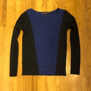 Two-tone blue sweater